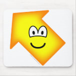 Up left emoticon arrow  mousepad