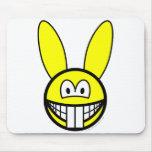 Rabbit smile   mousepad
