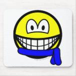 Blue belt smile   mousepad