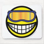 Skier smile (it's colder)  mousepad