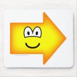 Right emoticon arrow  mousepad