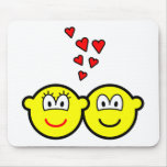 Two Buddy icons in love   mousepad