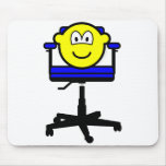 Office chair buddy icon   mousepad