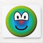 Psychedelic emoticon   mousepad