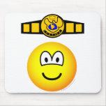 Boxing champion emoticon   mousepad