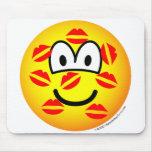 Kisses emoticon   mousepad