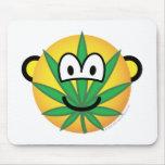 Cannabis emoticon   mousepad