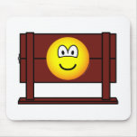 Emoticon in stocks  medieval  mousepad