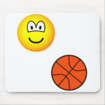 Basketball playing emoticon   mousepad