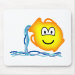 Aquarius emoticon Zodiac sign  mousepad