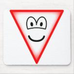 Yield emoticon   mousepad