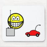 RC car smile Remote control  mousepad