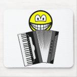 Accordion playing smile   mousepad
