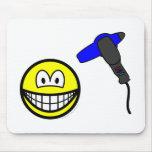 Hair drying smile   mousepad