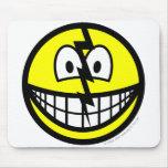 Cracked smile   mousepad