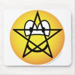 Pentacle emoticon   mousepad