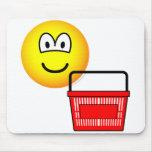 Shopping emoticon Basket  mousepad
