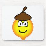 Acorn emoticon   mousepad