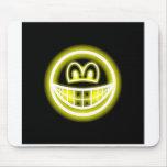 Neon light smile   mousepad