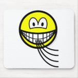 Blowing smile   mousepad