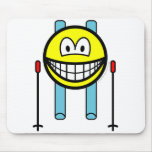 Skiing smile   mousepad