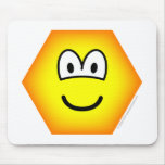 Hexagon emoticon   mousepad