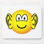 Ears emoticon Big  mousepad
