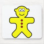 Gingerbread buddy icon   mousepad