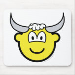 Taurus buddy icon Zodiac sign  mousepad