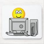 Computing emoticon   mousepad