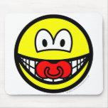Dummy smile Baby pacifier  mousepad
