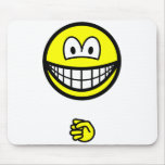 Rock smile rock - paper - scissors  mousepad