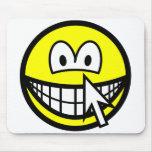 Clickable smile   mousepad