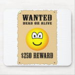 Wanted poster emoticon   mousepad