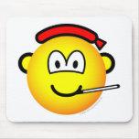 Virus emoticon   mousepad