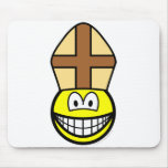 Pope smile   mousepad