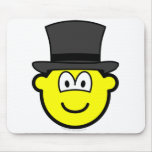 Top hat buddy icon   mousepad