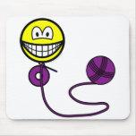 Crochet smile   mousepad