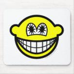 Star eyed smile   mousepad