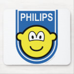Philips buddy icon Let's make things buddy icon  mousepad