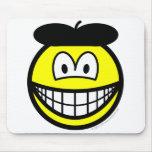 Baret smile   mousepad