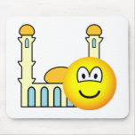 Mosque going emoticon   mousepad