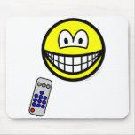 Tv remote smile   mousepad