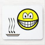 Pie baked smile   mousepad