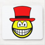 Red hat smile Six Thinking Hats - Emotions and Feelings  mousepad