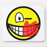 Slap smile slapped  mousepad