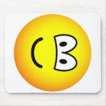Fallen over emoticon Right  mousepad