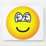 Pound eyed emoticon   mousepad