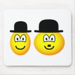 Laurel & Hardy emoticon   mousepad