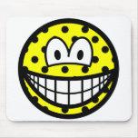 Polka dotted smile   mousepad